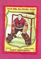 1973-74 OPC # 90 HAWKS TONY ESPOSITO GOALIE NRMT CARD (INV# D8181)
