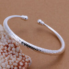 Women Fashion Jewelry 925 Silver Plated Adjustable Cuff Bracelet 16-2