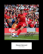 STEVEN GERRARD #1 Signed Photo Print 10x8 Mounted Photo Print - FREE DELIVERY