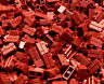 100 NEW DARK RED 1x2 LEGO MASONRY BRICK PIECES bulk part 98283 building block