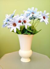 Faux/Artificial Silk Blue Daisy Flowers 5 x stems each with 6 heads on.
