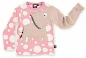 UBANG babblechat Langarmshirt Elefant rosa blush Punkte 98 104 110 116 122 128