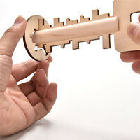 Holz Entsperren Puzzle Key Lernspielzeug Kind Chil Intelligenz Vorschul XJ