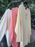 Lands' End & Basic Editions LOT OF 3 Tops Blouses Shirts Women's Size Large :