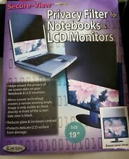 """Kantek Secure-View SVL19.0 Privacy Filter 19"""" For Notebook &  LCD Monitor Open"""