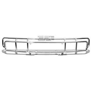 Fit 03-09 Hummer H2 Oe Style Chrome Stainless Steel Front Brush Grille Guard Kit
