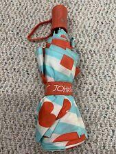 Betsey Johnson Blue / orange / white Umbrella