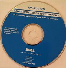 DELL CYBERLINK POWER DVD 7.0 SOFTWARE REINSINTALLTION CD YEAR 2006
