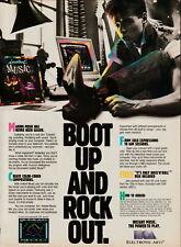 Commodore 64-128 - Instant Music - Original Magazine Ad - 1987
