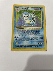 Blastoise Base Set Pokemon Card - 2/102 - Rare Holo