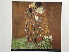 GUSTAV KLIMT  'THE KISS,1908' AUTHENTIC 1992 ART PRINT