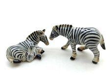 CFH014 Zebra Ceramic Animal Figurine Miniature Tiny Statue