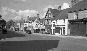 B/W Negative Midhurst West Sussex Village Street Shops 1940s +Copyright W496