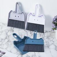 GI- Desktop Sweep Broom Dustpan Cleaning Brush Table Corner Besom Cleaner Novelt