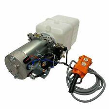 Hydraulic Pump Power Unit Single Acting 12v Dc Dump Trailer 4 Quart Plastic Tank