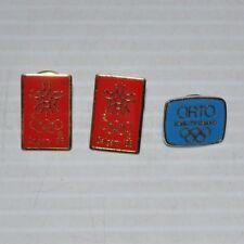 - lot of 3 OLYMPICS PINS Calgary 88 & ORTO Olympic Radio-Television Organization