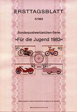 "BRD MiNr 1168-1171 ETB 5-83 ""Jugend 1983"": Motorräder -Megola Sport u.a.-"