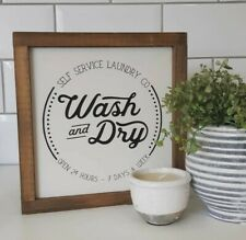 Utility Room Laundry Handmade Framed Wooden Sign Home Rustic Farmhouse Gift