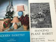Modern Basketry Atlas Leaflet No 44 + Arts & Crafts Hanging Plant Basket Pattern
