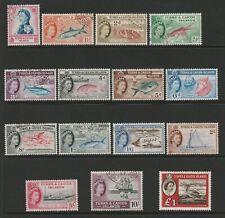 Turks & Caicos 1957 Complete set SG 237-250 & 253 Fine used.