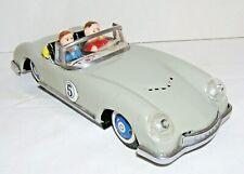 Vintage Tin Toy Sports Car 1970's Friction Austin Woodill Racer MF763 China Gray