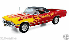 First Gear 1968-Chevrolet El Camino with Flames {bonus 1:24 scale display case}