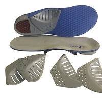 Sole Control Tri-arch orthotic insoles, 3 changable arches, gel heel pad plantar