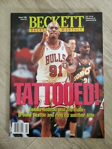 Beckett Basketball Monthly August 1996 Issue #73 Dennis Rodman