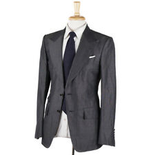 NWT $5750 TOM FORD 'Atticus' Dark Gray Silk-Linen Suit US 36 R (Eu 46)