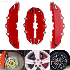 4Pcs 3D Style Red ABS Car Universal Disc Brake Caliper Covers Front&Rear Kit