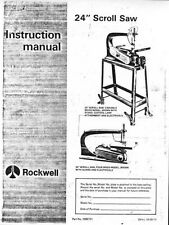 """Delta Rockwell No. 40-306 & No. 40-440 / 24"""" Scroll Saw Instructions"""