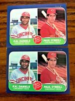 1986 Fleer #646 Paul O'Neil, Kal Daniels  RC - Reds (2)