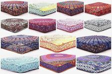Large Indian Mandala Print Square Cushion Cover Meditation Box Floor Pillow Case