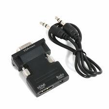 Hdmi Hembra A Macho Vga Convertidor + Adaptador de audio de apoyo 1080P señal de salida