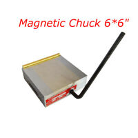 New Fine Pole Permanent Magnetic Chuck 6*6 inch for Grinding Machine 170424
