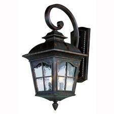 Bel Air Lighting Bostonian 2-Light Antique Rust Outdoor Coach Lantern Sconce