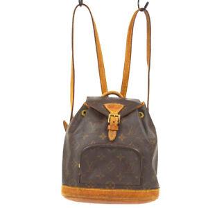 LOUIS VUITTON MINI MONTSOURIS BACKPACK HAND BAG MONOGRAM M51137 gg 61071