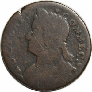 1788 CONNECTICUT MAILED BUST LEFT COLONIAL - CIRCULATED