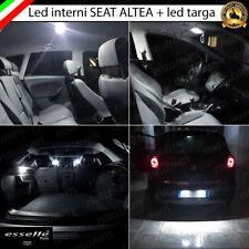 KIT LED INTERNI ABITACOLO SEAT ALTEA KIT COMPLETO CANBUS 6000K + LUCI TARGA LED