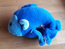 Stofftier Plüschtier Kuscheltier blauer Fisch Weich Süß