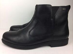 Dunham 'James' Men's Shoes Ankle Boots Black Leather Waterproof Chelsea Sz 18 D