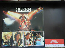 Queen 1981 Japan Tour Book with Ticket Stub Freddie Mercury Brian May Program