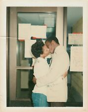 Vintage Photo Black African American Couple Kissing Making Out Romantic Love