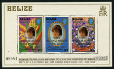 Belize 1982 Birth of Prince William S/S Sc# 634 NH