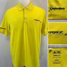 ADIDAS Climalite TaylorMade RBZ Stage 2 Men's Large Yellow S/S Polo Golf Shirt