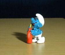 Smurfs Thirsty Smurf Orange Bottle Smurfberry Drink Vintage Toy PVC Figure 20057