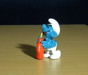 Smurfs 20057 Thirsty Smurf Bottle & Straw Vintage Figurine PVC Toy Figure Drink