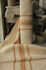 Grain sack grainsack fabric vintage linen 12.1 yds Washed Rare bolt upholstery