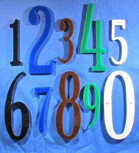 Individual Acrylic House Numbers - Hand Cut - Choose From 5 Colors & 2 Sizes