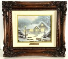 Thomas Kinkade Home for the Evening Framed Signed Canvas Sn 20/980 Limited Ed